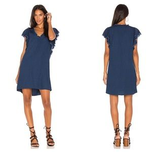 Splendid S Ruffle Tank Dress Dark Wash Chambray